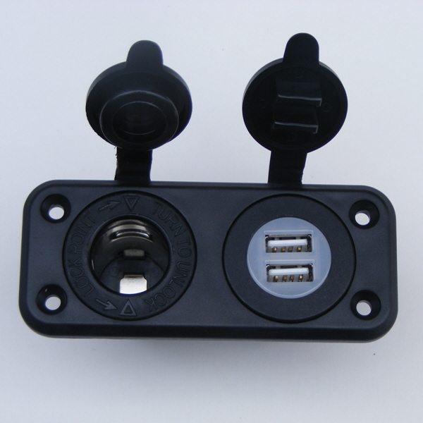 Aansteker + dubbele USB